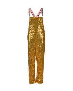 Long Gold Sequin Dungarees