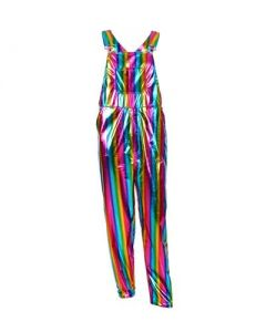Long Rainbow Dungarees Large