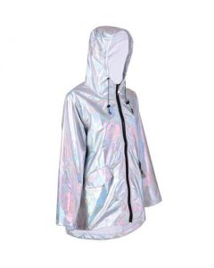 Silver Holographic Raincoat