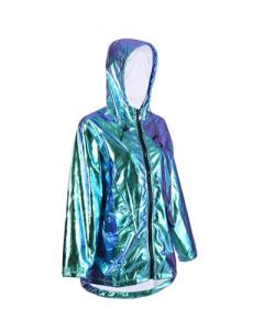 Blue Holographic Raincoat