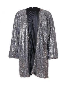 Silver Sequin Kimono