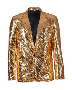 Gold Embossed Metallic Blazer