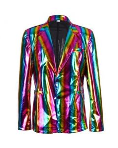 Rainbow Metallic Blazer