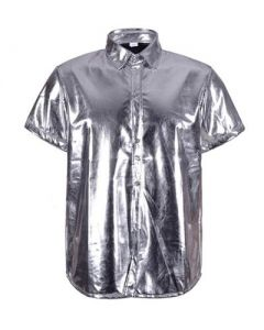 Silver Metallic Shirt