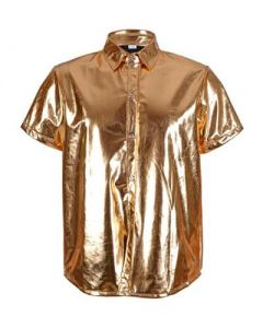 Gold Metallic Shirt