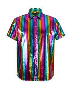 Rainbow Metallic Shirt