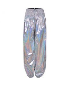 Silver Holographich Hareme PAnts