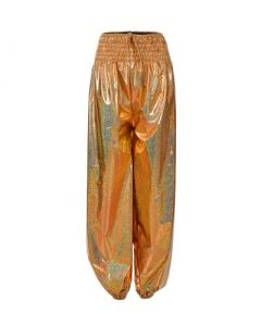 Gold Holographich Hareme Pants