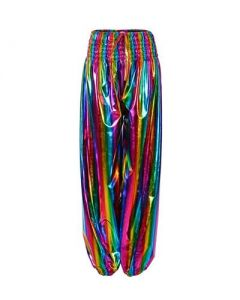 Rainbow Holographic Hareme Pants