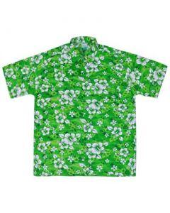 Floral Hawaiian Shirt Green
