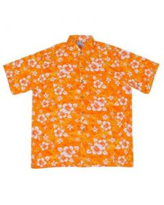 Floral Hawaiian Shirt Yellow