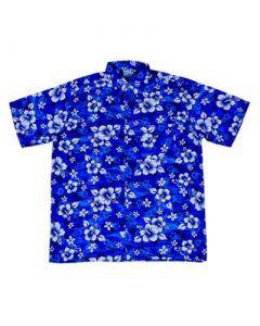 Floral Hawaiian Shirt Blue