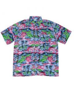 Green Flamingos Hawaiian Shirt