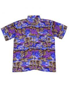 Purple Flamingo Hawaiian Shirt