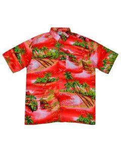 Red Waterfall Shirt
