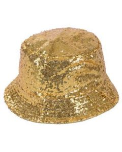 Gold Seuin Bucket Hat