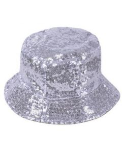 Silver Sequin Bucket Hat