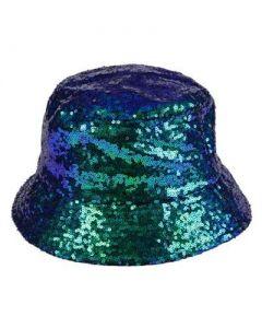 Green Sequin Bucket Hat