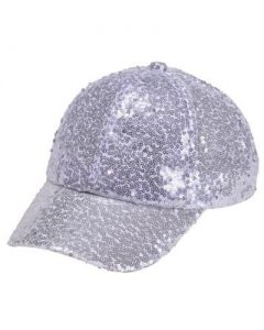 Silver Sequin Baseball Cap