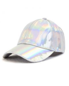 Silver Holographic Baseball Cap