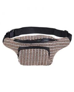 Tweed Bumbag Black and White