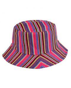 Pink Canvas Bucket Hat