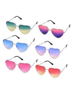Two Tone Heart Shaped Sunglasses