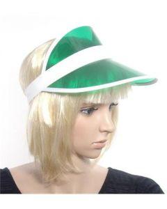 Green sun visors