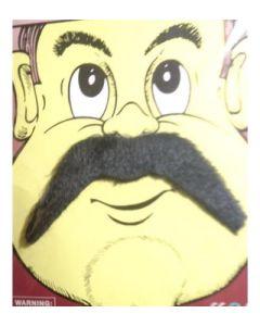 False moustache on display card