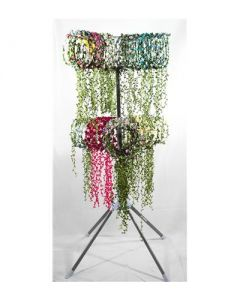 Display stand with 120 garlands