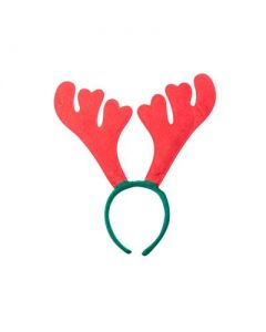 Red and green antler headband