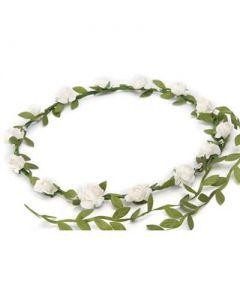 Small size white garland