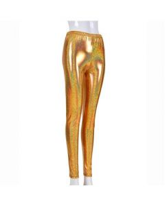 Gold Laser Effect Leggings