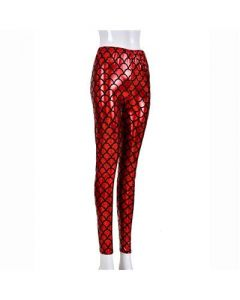 Red Scale Leggings