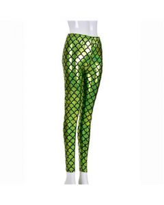Green Scale Laser Effect Leggings