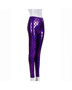 Purple Scale Laser Effect Leggings