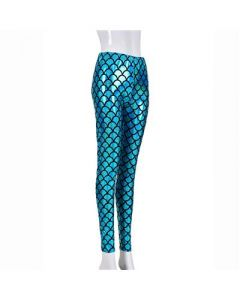 Turquoise Scale Laser Effect Leggings
