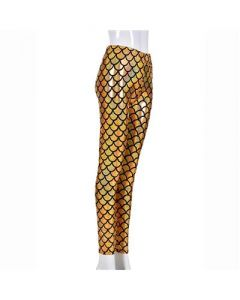 Gold Scale Laser Effect Leggings