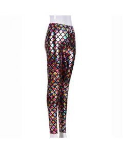 Rainbow Scale Laser Effect Leggings