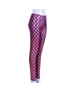 Pink Scale Laser Effect Leggings