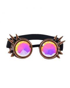 Kaleidoscope Steampunk Goggle Brass Spikes