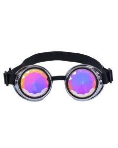 Kaleidoscope Steampunk Goggles Silver