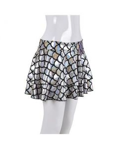 Silver Scale Holographic Skirt