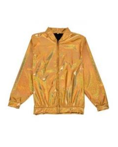 Gold Holographic Bomber Jacket