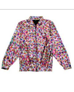 Rainbow Metallic Bomber Jacket