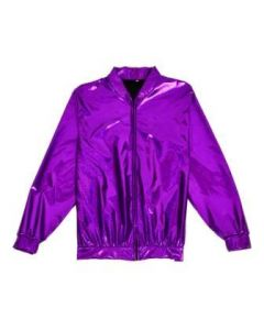 Purple Holographic Bomber Jacket