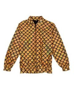 Gold Scale Holographic Bomber Jacket
