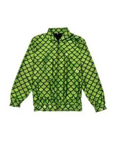 Green Scale Holographic Bomber Jacket