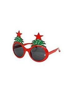 Red Christmas Tree Glasses