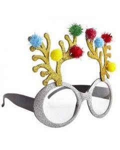Silver Reindeer Glasses